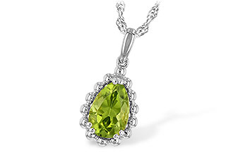 F225-49803: NECKLACE 1.30 CT PERIDOT