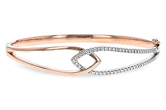 F225-53439: BANGLE BRACELET .50 TW (ROSE & WG)
